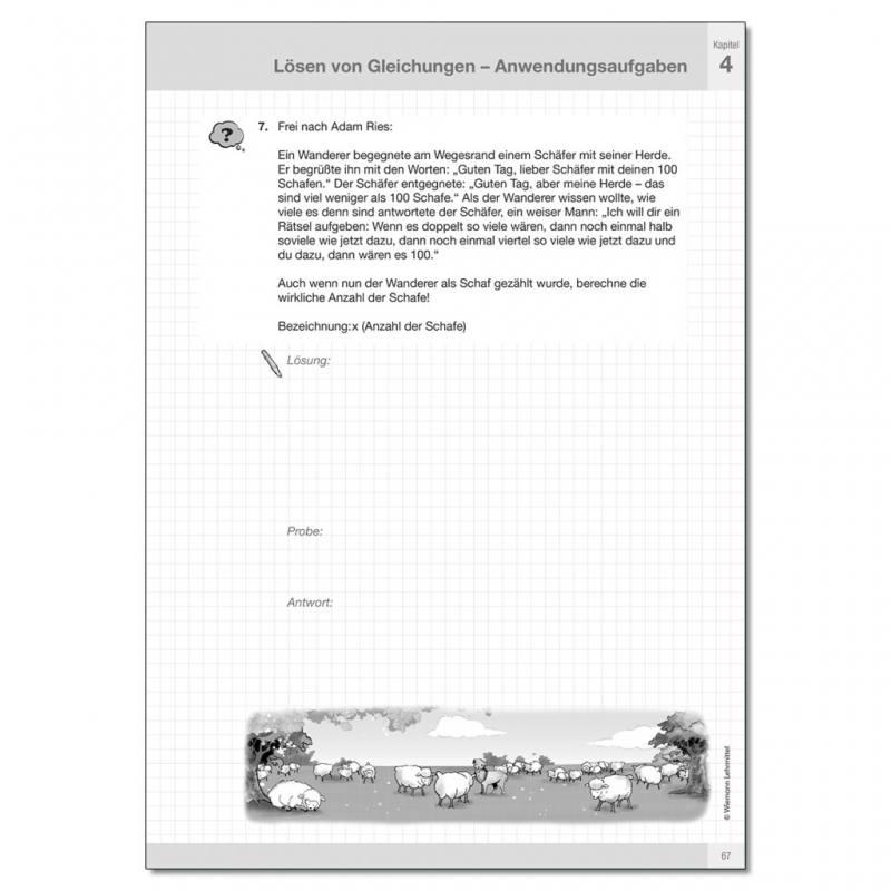 Lineare Gleichungen und Ungleichungen - tolle Arbeitsmappe