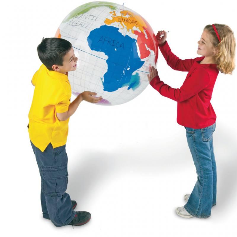Aufblasbare Weltkugel für Schülerübungen