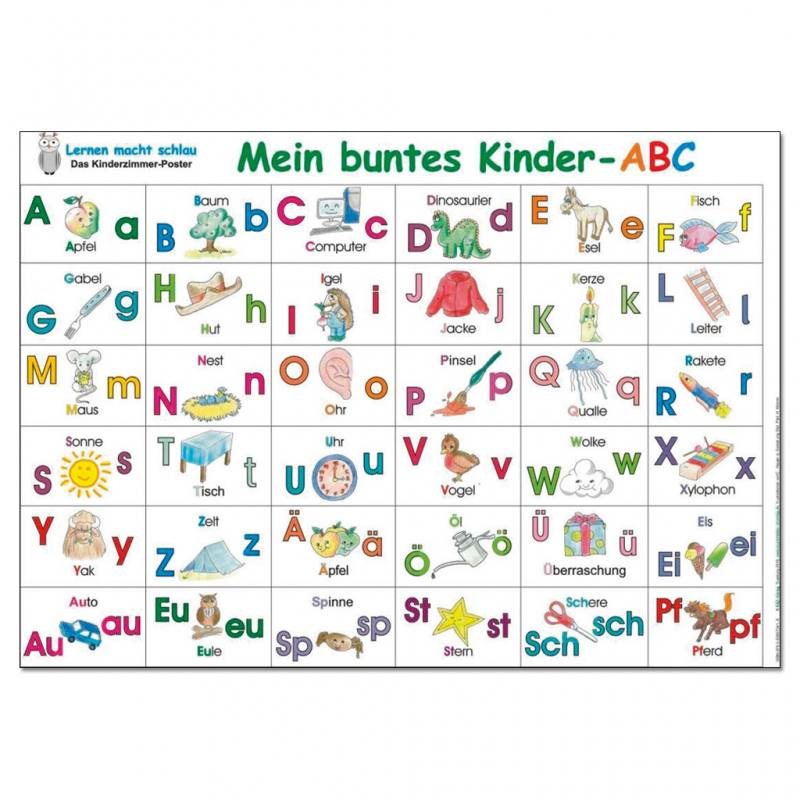 Mein buntes Kinder - ABC - Poster