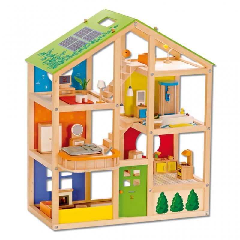 Puppenhaus aus Holz - inkl. Einrichtung
