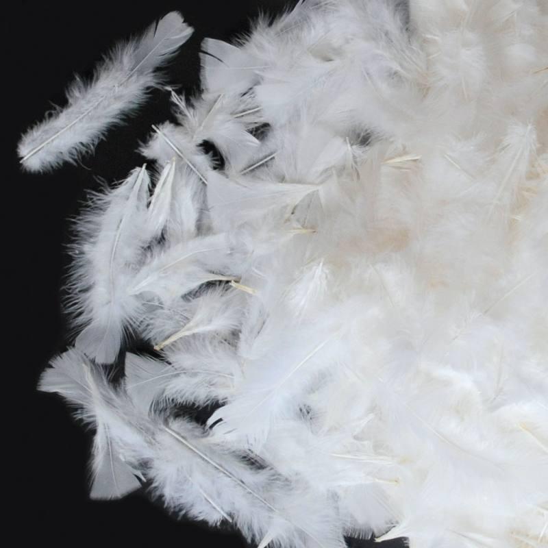 Flauschige Federn - weiß