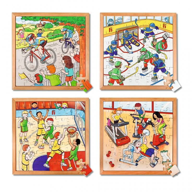 Kinder-Holzpuzzles mit Rahmen