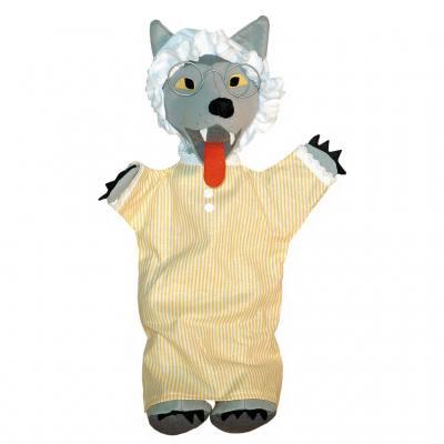 Handpuppe - Wolf im Schlafanzug