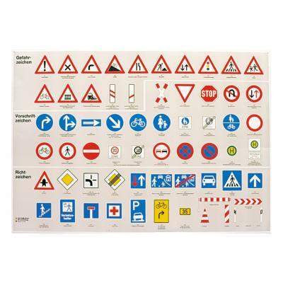 """Lehrtafel – """"Verkehrszeichen für Fußgänger und Zweiradfahrer"""""""