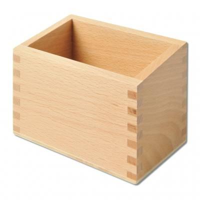 Holzbox für 10 Sandpapier-Ziffern