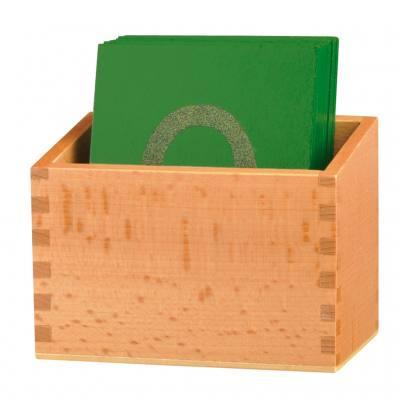 Sandpapier-Ziffern in Holzbox