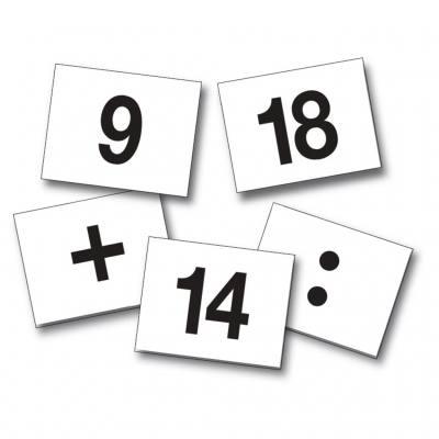 Zahlenkarten von 0-20 für den Bewegungswürfel