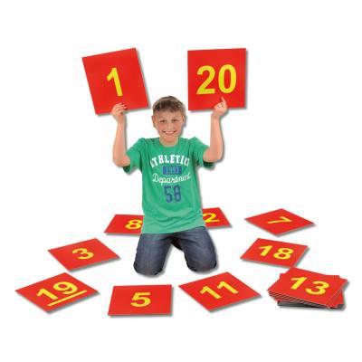 Satz Bodenzahlen von 1 bis 20