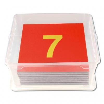 Satz Bodenzahlen 1-20 - in stabiler Stapelbox