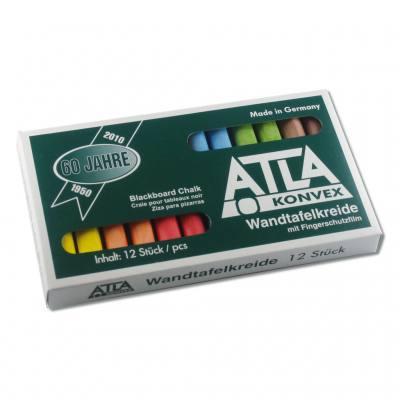 ATLA-Kreide - 6-farbig sortiert konvex