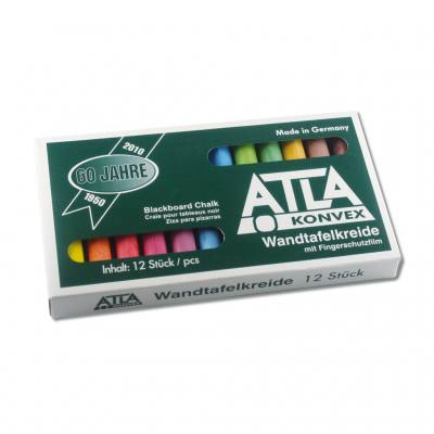 ATLA-Tafelkreide - 12 farbig konvex