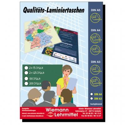 Qualitäts-Laminier-Taschen A4, matt