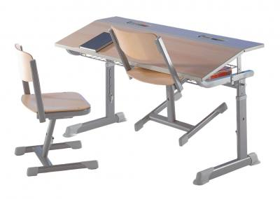 Aluflex Zweier-Schülertisch Größe 1