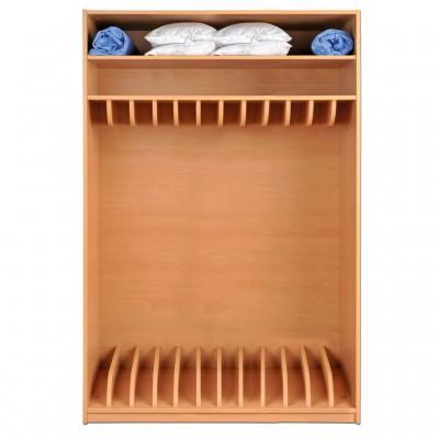 Modulus® Liegepolsterschrank mit 2 Einlegeböden für 12 Liegepolster, 140 cm lang