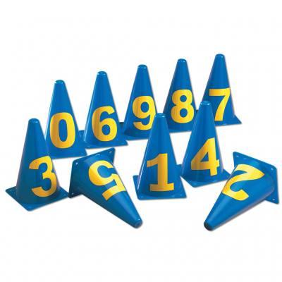 Zahlenkegel von 0 bis 10