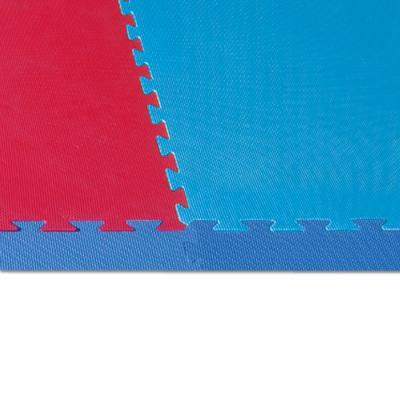 Spiel- und Sportteppich Randteile ohne Ecken - blau