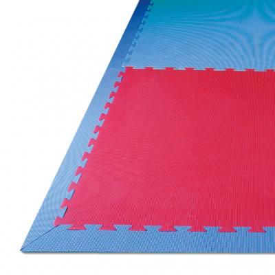 Spiel- und Sportteppich Randteile mit Ecken - blau