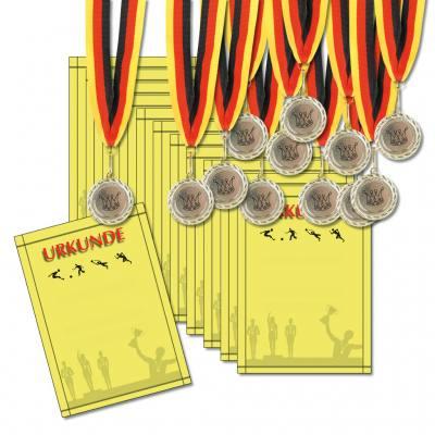 Medaillen und Urkunden