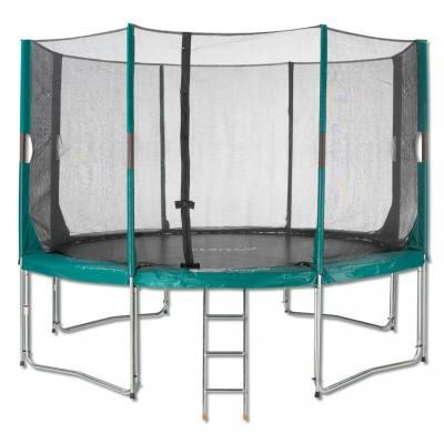 Trampoline mit Sicherheitsnetz und Leiter - in 3 Größen lieferbar