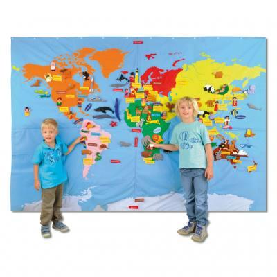 Riesenweltkarte