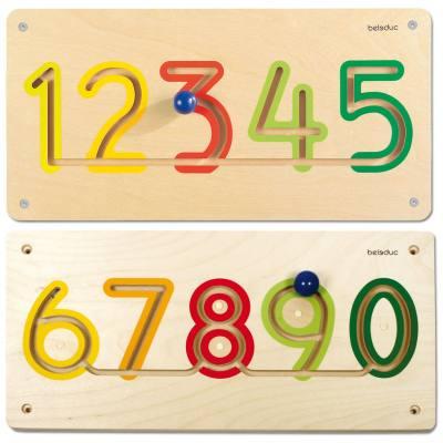 Wandelemente - Zahlen 1 - 5 und 6 - 0