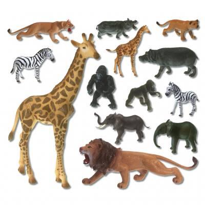 13 afrikanische Wildtiere