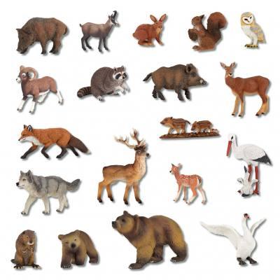 21 heimische Wildtiere im Set