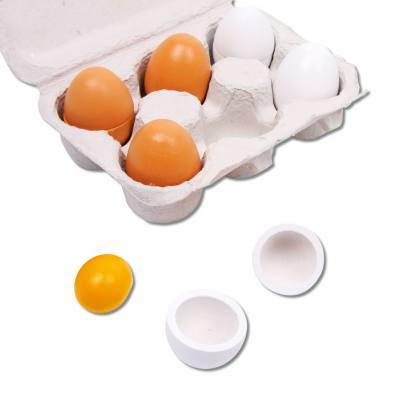 6 Eier im Eierkarton