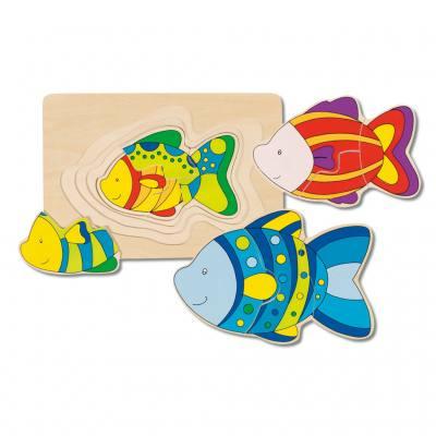 """Schichtenpuzzle """"Fisch"""""""