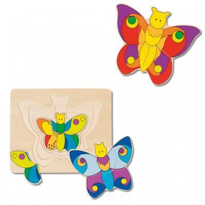 """Schichtenpuzzle """"Schmetterling"""""""