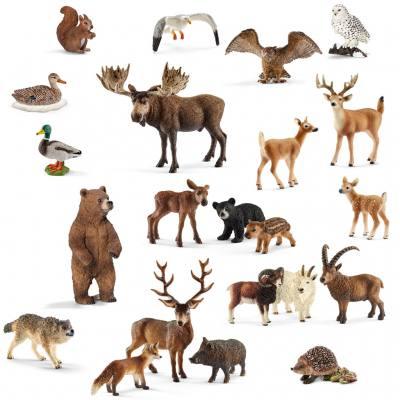 Heimische Wildtiere im Set