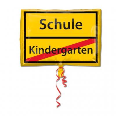 Folienballon Schule-Kindergarten