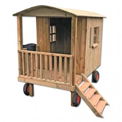 Zirkuswagen oder Gartenhaus auf Rädern