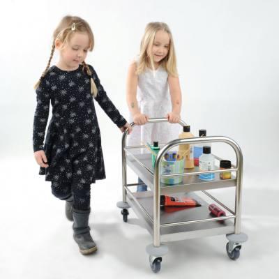 Edelstahlservierwagen für Kinder
