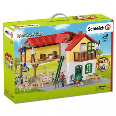 Schleich® Bauernhaus mit Stall und Tieren