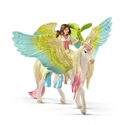 Schleich® Surah mit Glitzer-Pegasus