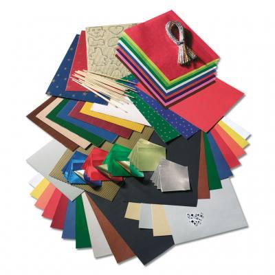 Sch ne bastelsets mit verschiedenen papieren und materialien - Bastelset weihnachten ...