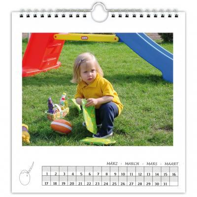 Dauerkalender, weiß