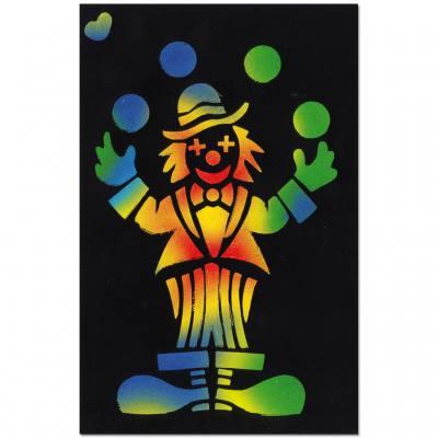 Scratch-Art® – Kratzpapier (Regenbogenfarben mit schwarzer Deckschicht)