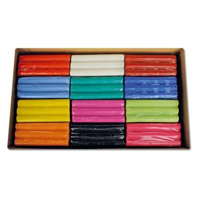 Plastilin-Knete im Karton