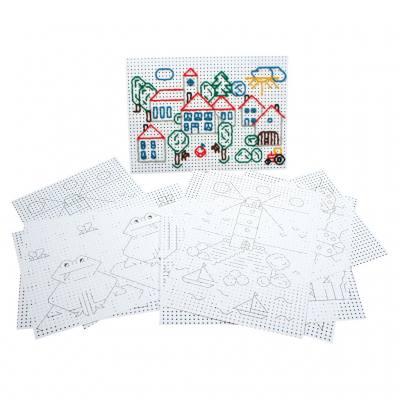 Stickkarton - bedruckt weiß