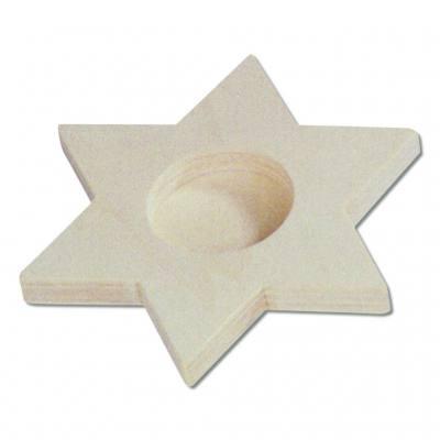 Stern-Teelichthalter, aus Holz - in verschiedenen Varianten