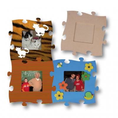 Holzpuzzle-Bilderrahmen