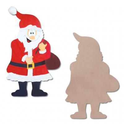 Holzmotive blanko - Weihnachtsmann