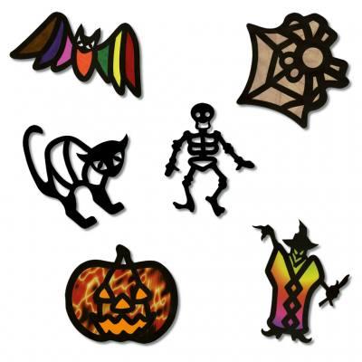 Gruseliges halloween - Halloween fensterbilder ...