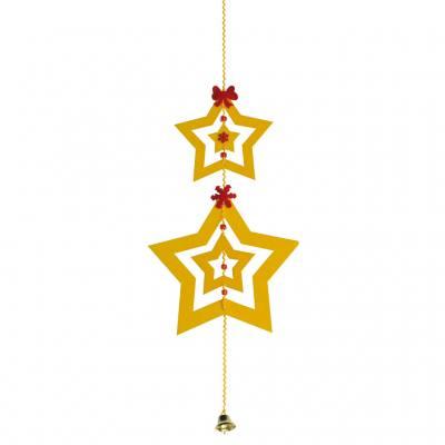 Weihnachtsanhänger - 4 Sterne im Set
