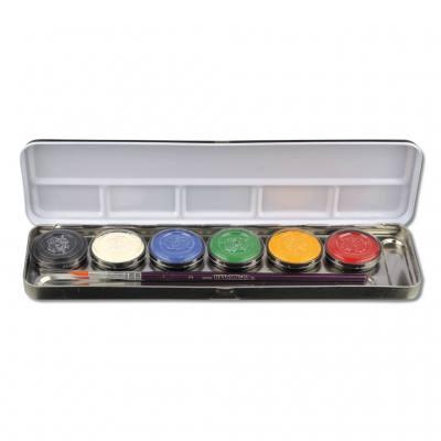 Profi-Schminkfarben mit Pinsel