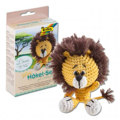 Mini Häkeltier-Set - Löwe