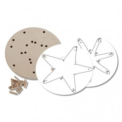 Drahtwickelplatte - Motiv Sterne