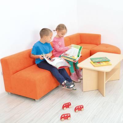 """KITA-KIDS """"Ecksofa"""" - in 2 Sitzhöhen und 5 Farben lieferbar"""